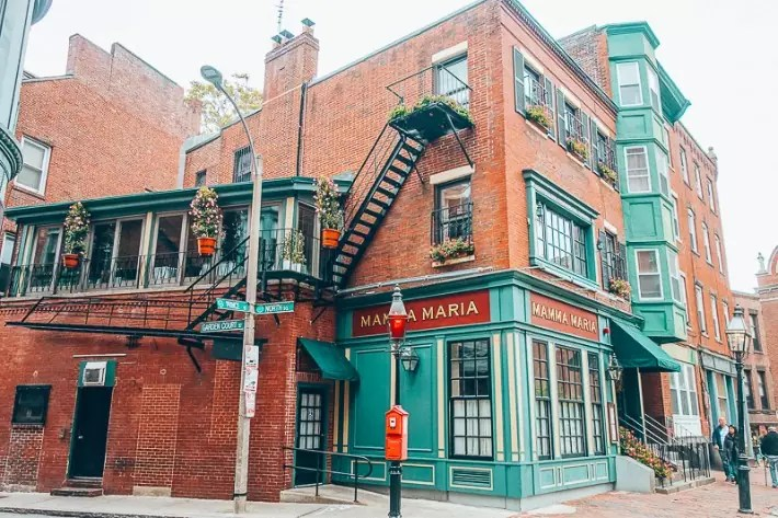 North End, Mamma Maria, 2 Days in Boston, weekend in Boston itinerary