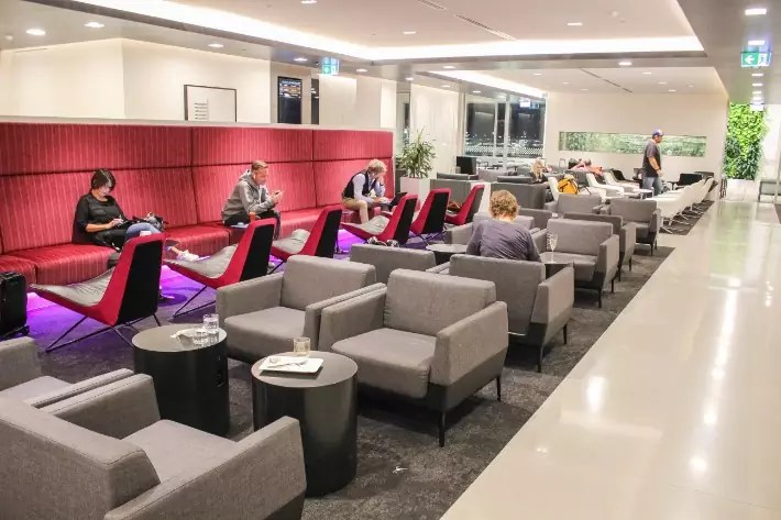 air new zealand flight business class lounge indoor seats