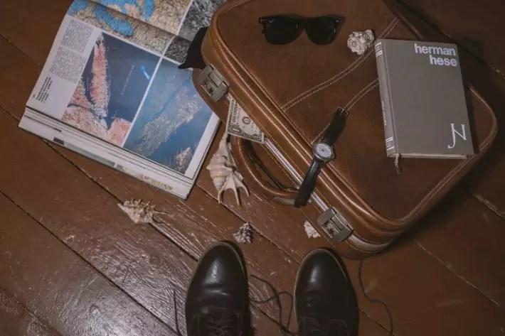 travel flatlay budget finance