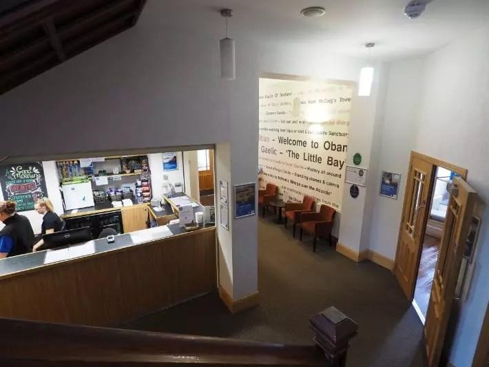 oban reception, hostelling scotland, scotland itinerary