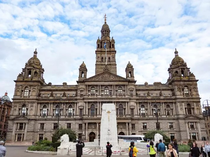 st george square, glasgow, scotland itinerary