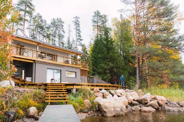 luxury cabin by lake, Nuuksio National Park