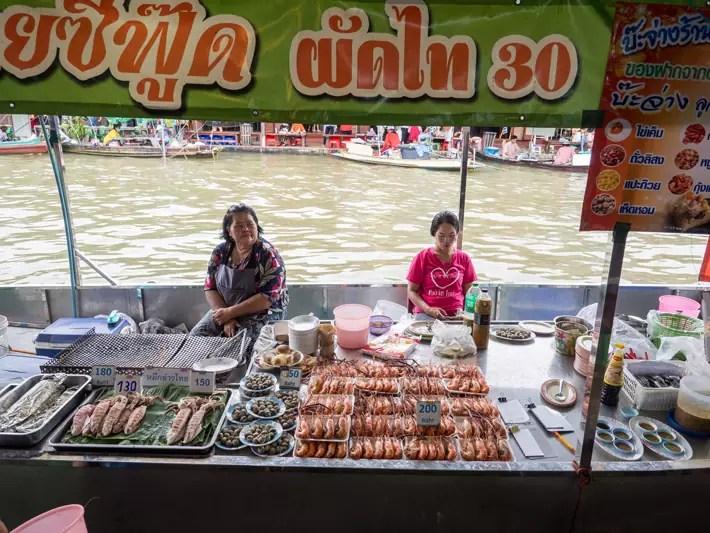 seafood bbq, Day trips from Bangkok -Amphawa Floating Market, Maeklong Railway Market, Ban Bang Phlap