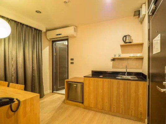 zenniq-hotel-room-entrance,-Day-trips-from-Bangkok,-Thailand