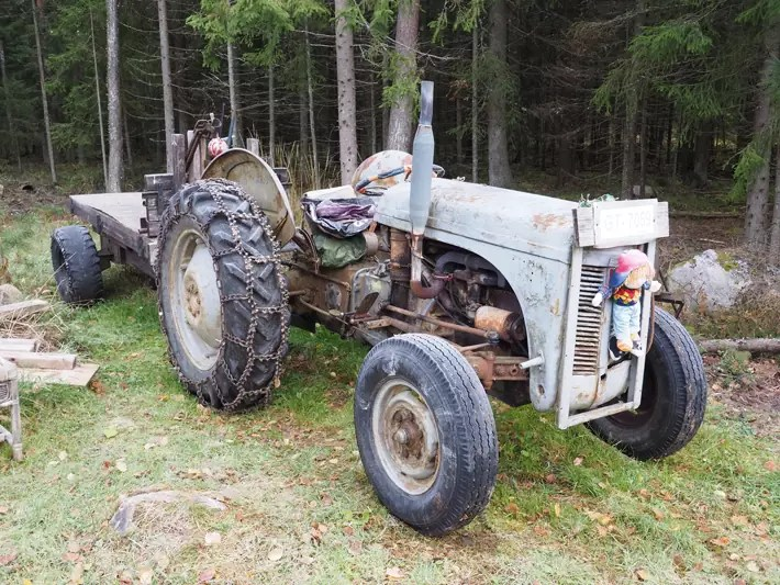 old tractor, Nuuksio National Park