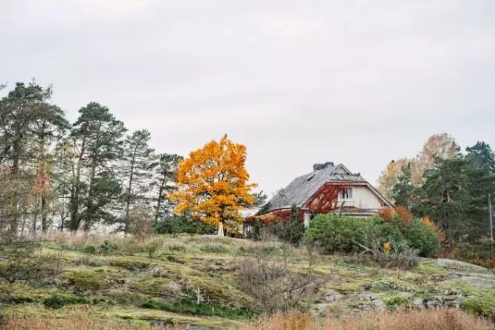 house by the cliff, Seurasaari Open-Air Museum, Helsinki, Finland