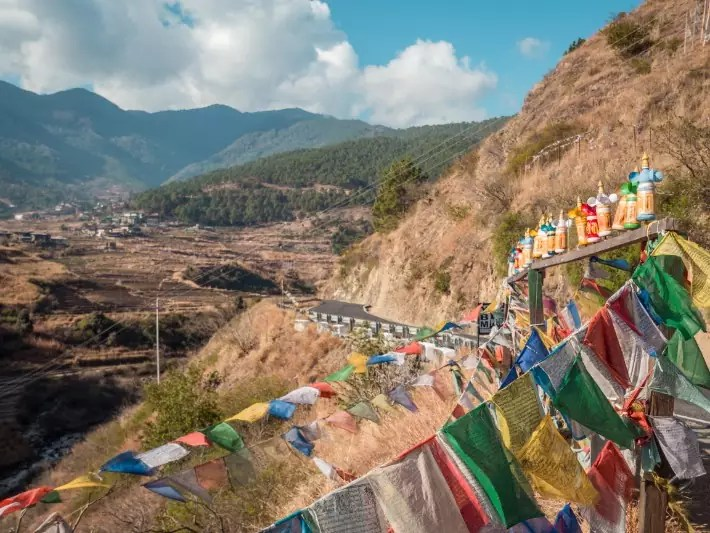 highway road in bhutan