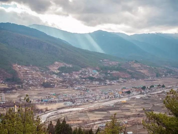 paro city, bhutan