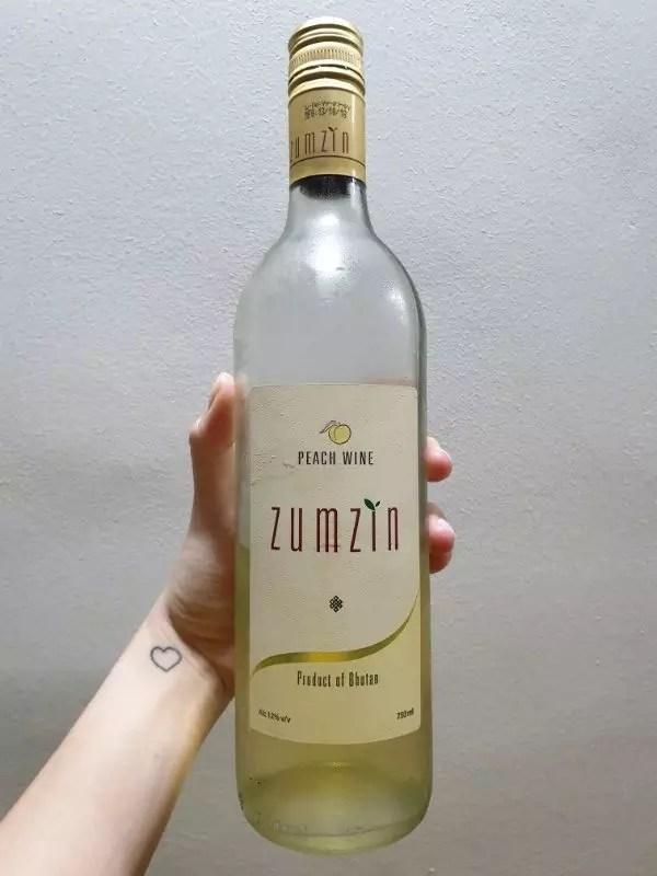 peach wine, bhutan souvenir