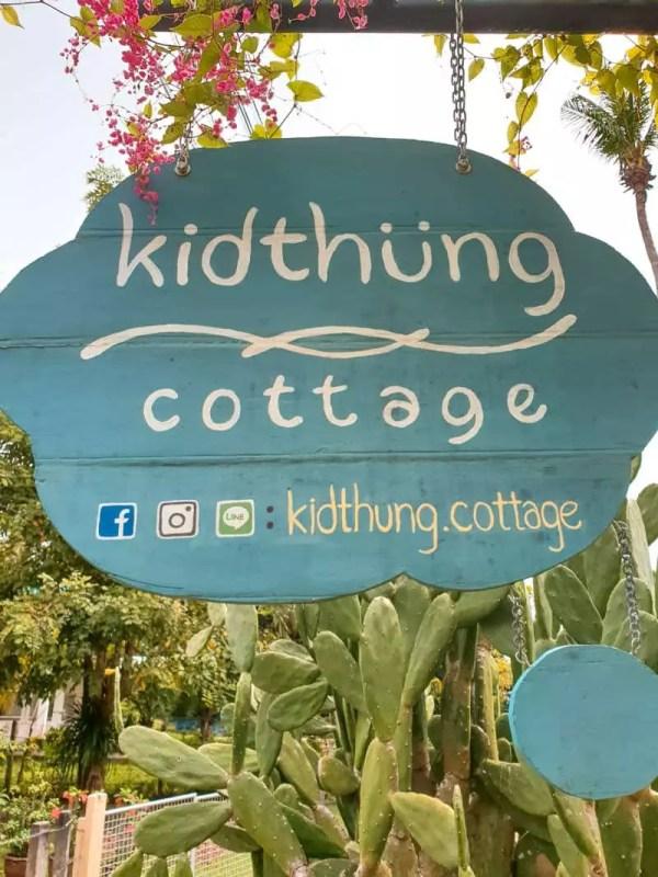 koh klang thailand kidthung cottage door sign