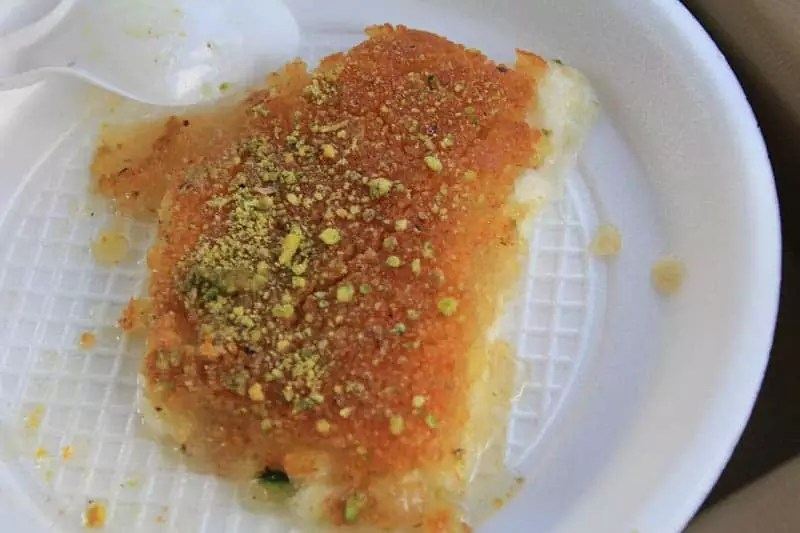 Knafeh, things to do in amman jordan