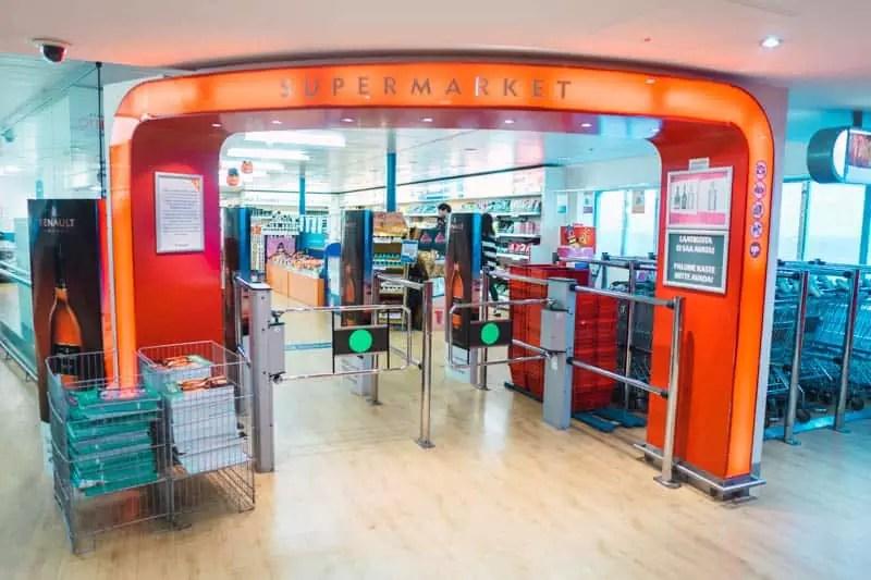 Tallink Silja ferry supermarket, tallinn, estonia