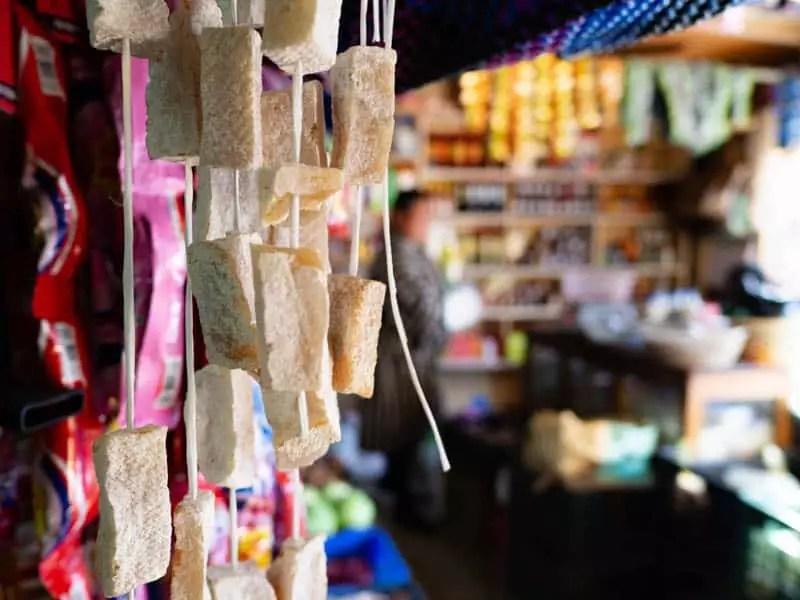 Yak-cheese-bhutan-local-store-what-to-eat-in-bhutan