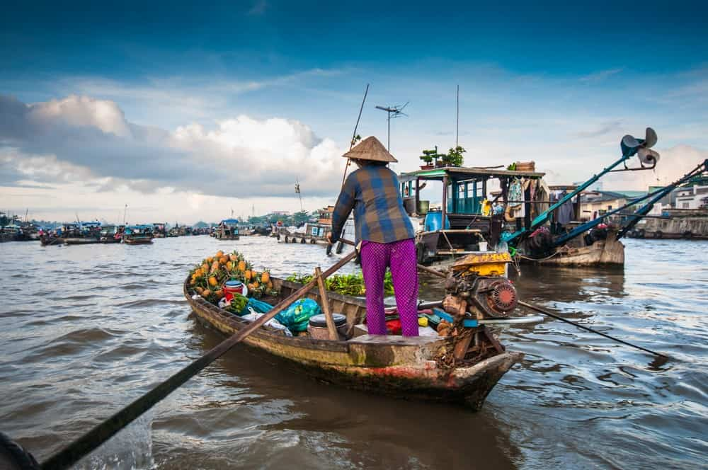 Cai Rang floating market, 15-Day Vietnam-Cambodia Itinerary 15