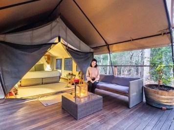 Paperbark-Camp-Jervis-Bay-Australia-Review-deluxe-plus-tent-entrance