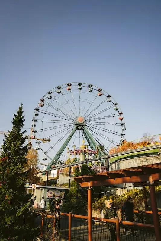Linnanmaki amusement park ferris wheel, what to do in helsinki, things to do in helsinki finland