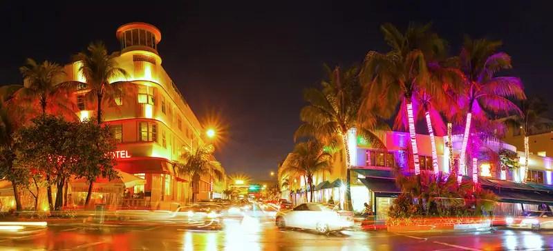Miami Beach Street, Best Neighborhoods In Miami, Florida, USA
