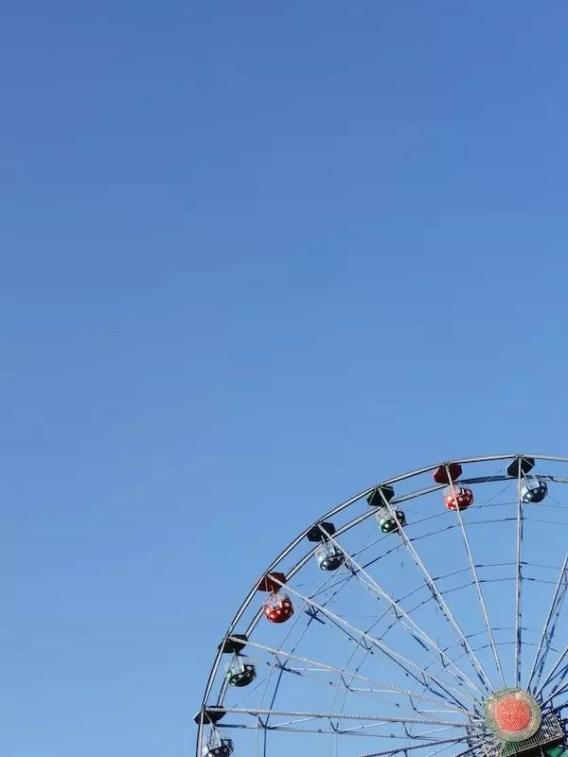 Linnanmaki amusement park. ferris wheel, theme park, helsinki finland