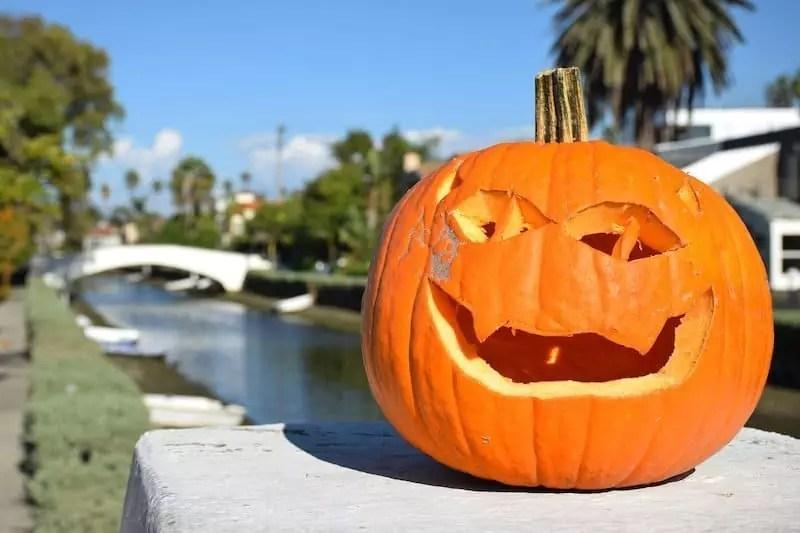 Pumpkin on a bridge - Halloween Los Angeles