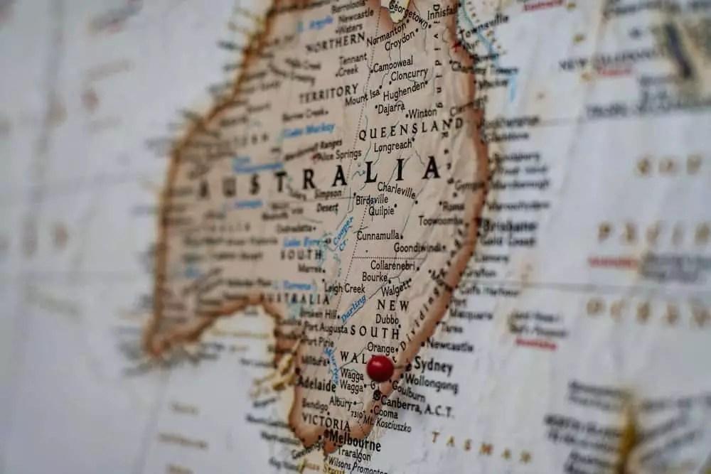 australia map, australia travel tips