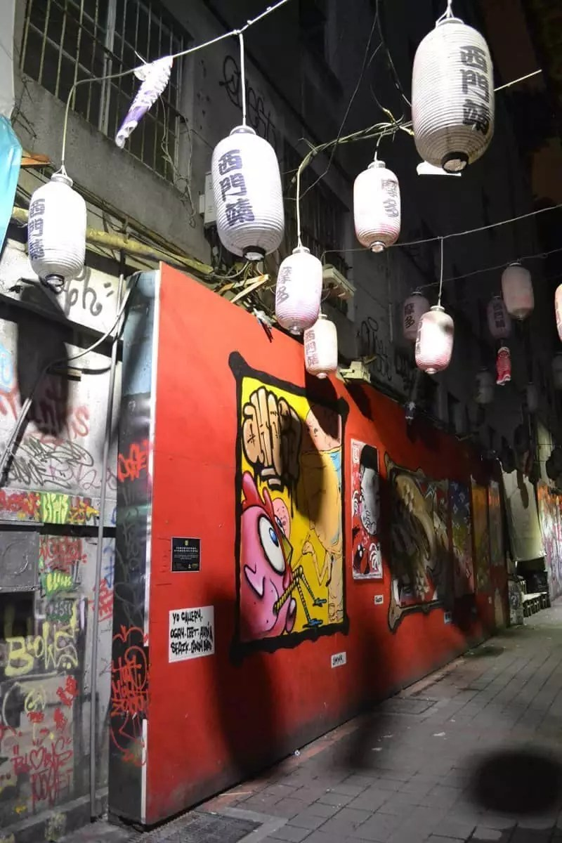 ximending, street art alley, THINGS TO DO IN TAIWAN