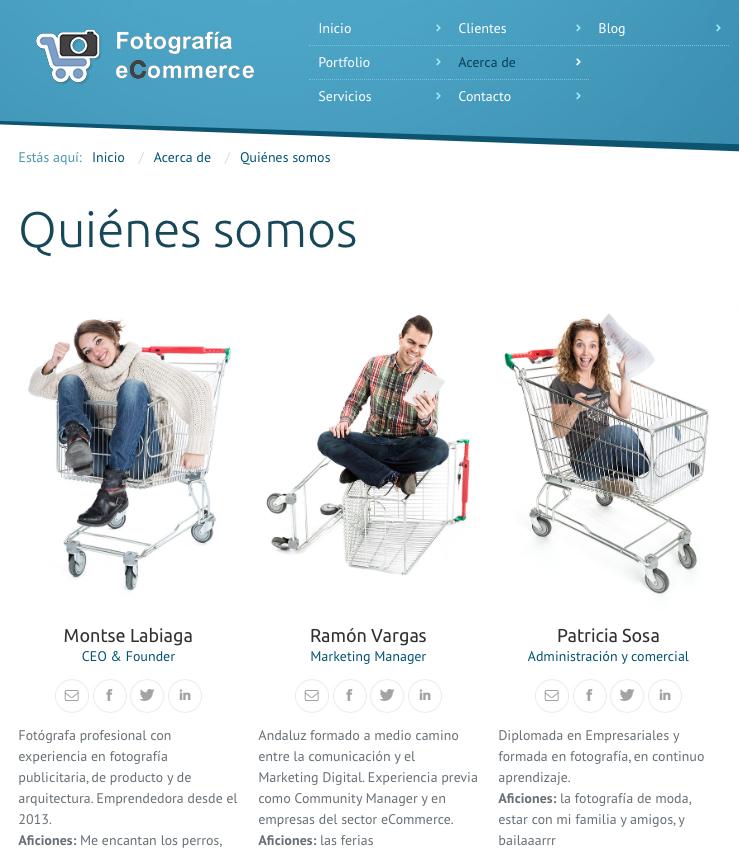 fotografia corporativa de la empresa ecommerce