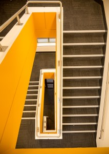 Newly refurbished staircase, taken from above