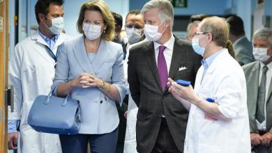 صورة الملك والملكة في مستشفى لييج la Citadelle