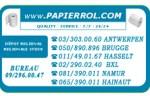 Papierrol Rouleaux papier Bancontact