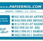 Papierrol Rouleaux papier Bancontact et imprimantes
