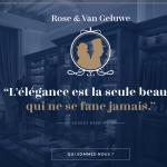 Rose et Van Geluwe Le tailoring personnalisé