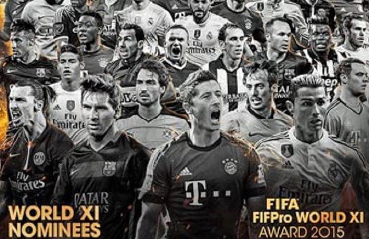 قائمة المرشحين النهائية لفريق اليويفا عام 2015