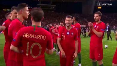 Photo of رد فعل كريستيانو رونالدو على تتويج برناردو سيلفا بجائزة أفضل لاعب