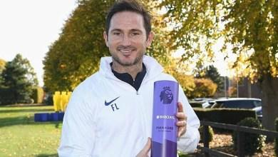 Photo of فرانك لامبارد يحصل على جائزة مدرب الشهر في الدوري الإنجليزي