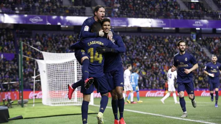 راموس مع زملائه في ريال مدريد