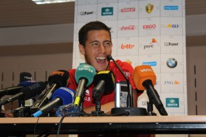 Eden Hazard - happy . (copyright - John Chapman)