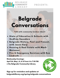 Belgrade Conversations Flyer