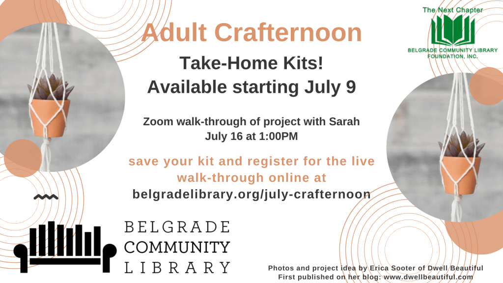 July Adult Crafternoon Take Home Kit