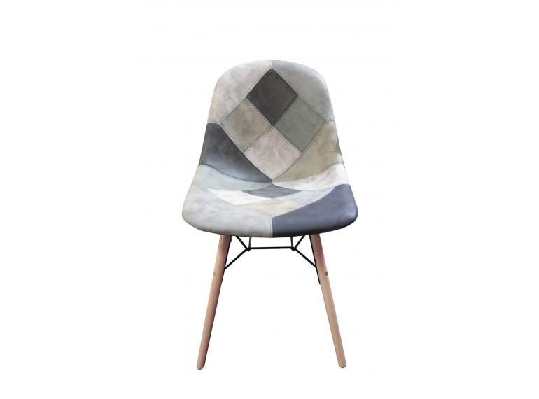 chaises patchwork bleu scandinave vintage chawk