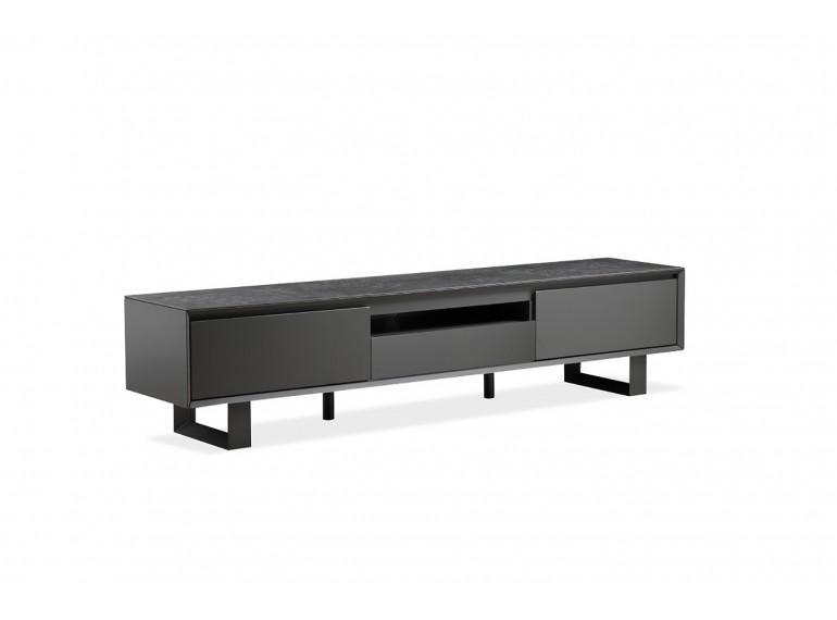 meuble tv gris anthracite plateau ceramique emotion