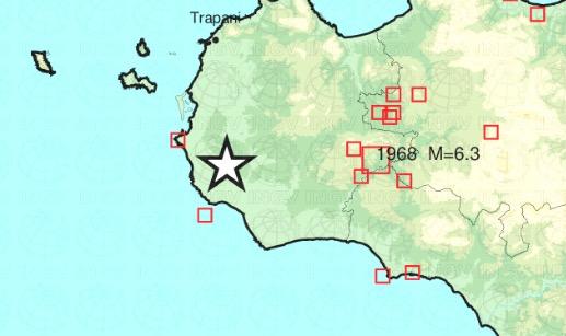 Nuova scossa vicino Castelvetrano: ML2.5 alle 6:16