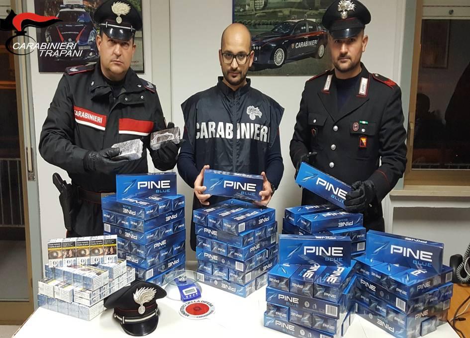 Hashish e 100 stecche di sigarette di contrabbando, 2 arresti a Mazara
