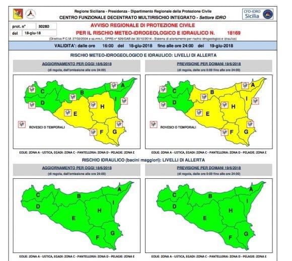 "Castelvetrano: allerta meteo ""verde"" per martedì 19 giugno"