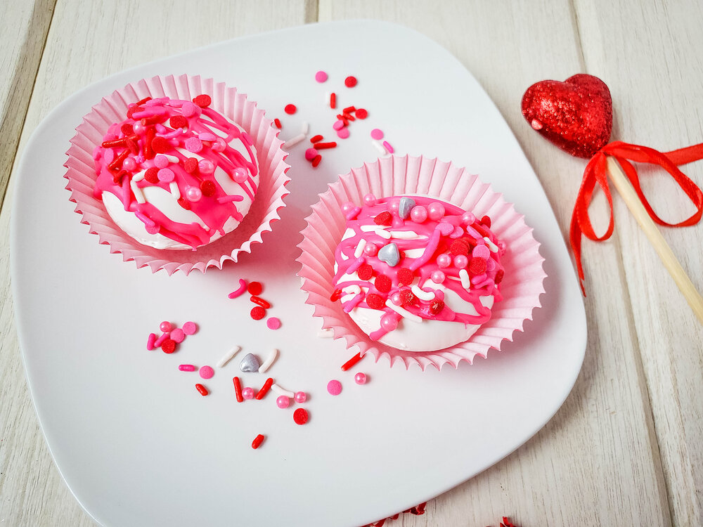 White Chocolate Valentine's Day Hot Cocoa Bombs
