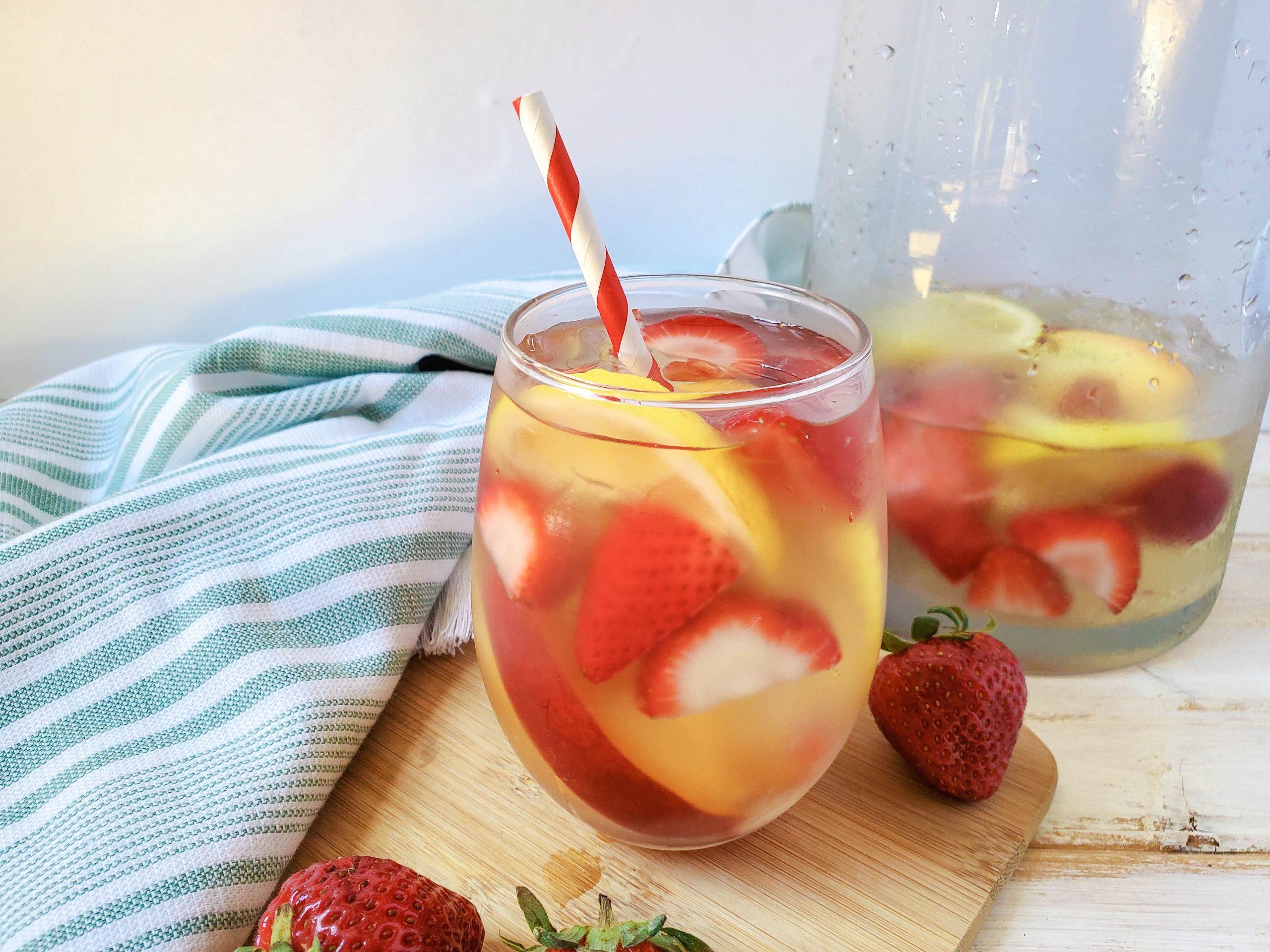 Summer Sangria - Strawberry Peach Sangria