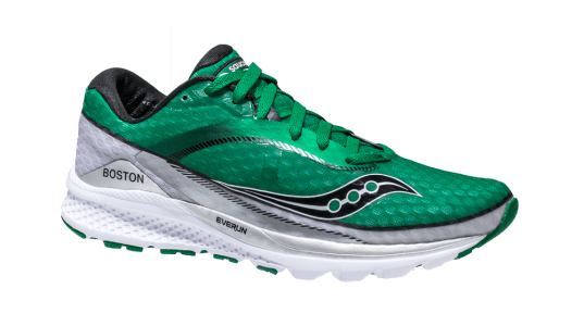 "SAUCONY Salutes Boston's MBTA with Special Edition ""Green Line"" Kinvara 7 AND Triumph ISO2"