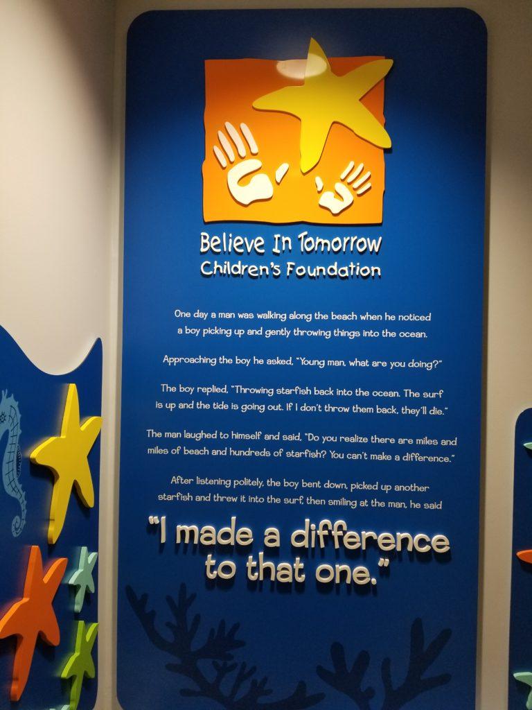 Children's House Starfish Wall, starfish story