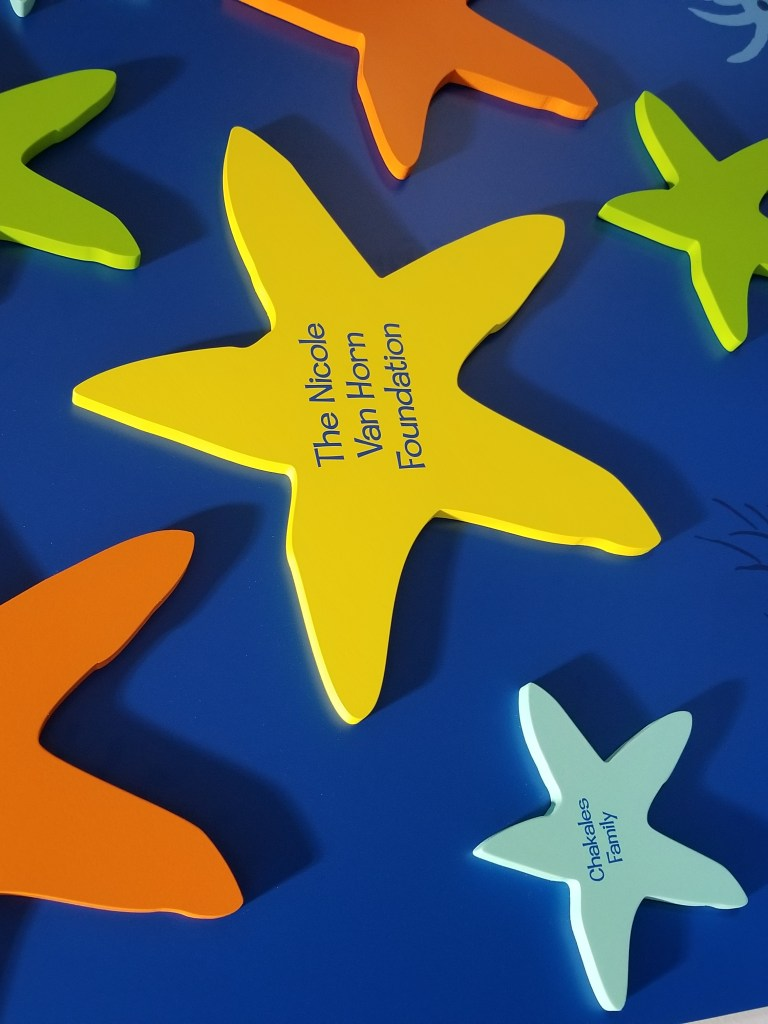 The Children's House at Johns Hopkins Starway of stars close up