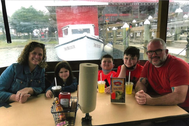 Believe In Tomorrow family enjoying dinner, read their story