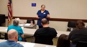 Belinda teaching a workshop at the Liar's Club workshop 2017
